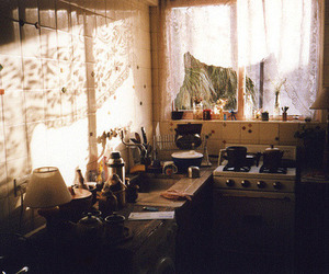 vintage, kitchen, and light image