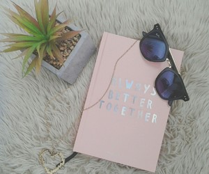 agenda, gold, and necklace image