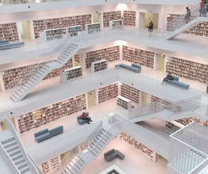 architecture, germany, and library image