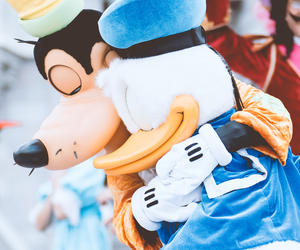 disney, donald duck, and goofy image