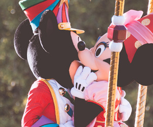 mickey mouse, minnie mouse, and photography image