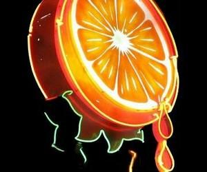 neon, orange, and light image