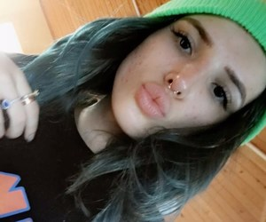 blue hair, kiss, and lips image