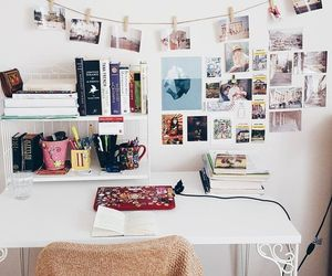 desk, room, and college image