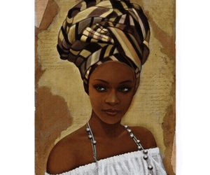art, black, and woman image