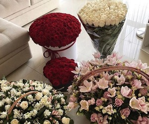 bouquet, pink, and roses image