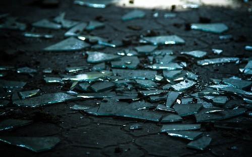 ruin, broken, and glass image