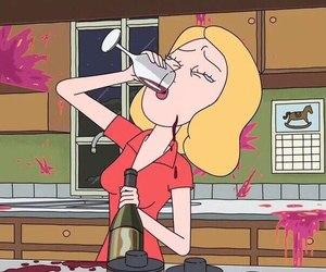 cartoon, girl, and alcohol image