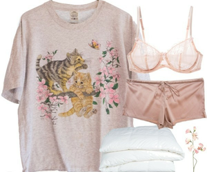 outfit, pink, and pijama image