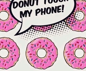 wallpaper, donuts, and phone image