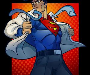 art, clark kent, and superheroes image