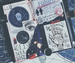 journal, art, and book image
