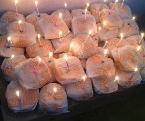 food, hamburger, and birthday image