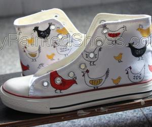 hand painted shoes and custom chicks image