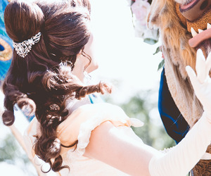beauty and the beast, belle, and mickey image