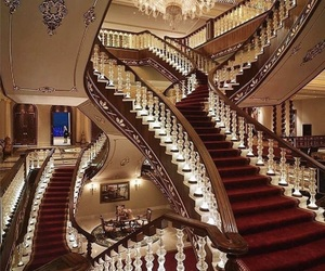 luxury, stairs, and house image