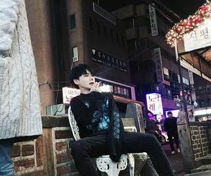 black hair, korean boys, and ulzzang boys image