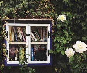 book, flowers, and nature image