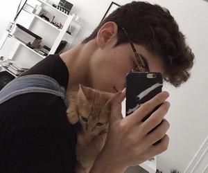 boy, cat, and manu rios image