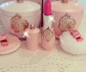 lipstick, pink, and girly image