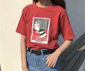 fashion, red, and aesthetic image