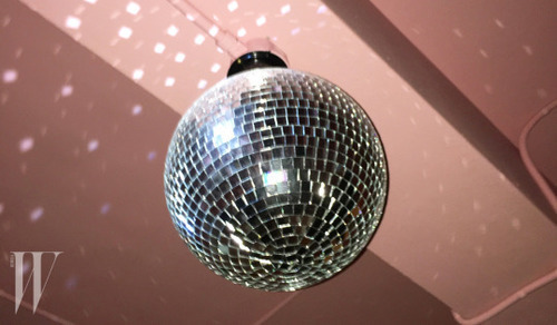 pink and disco ball image