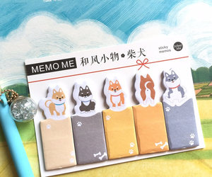 akita, mini dog, and sticker image