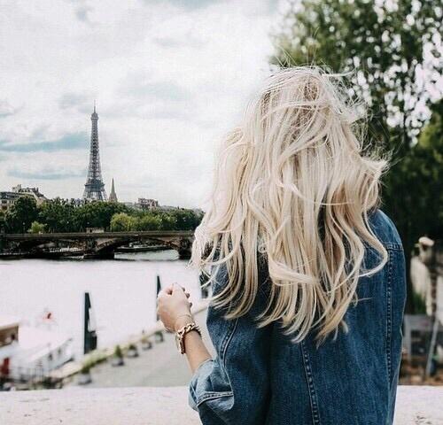 girl, paris, and hair image