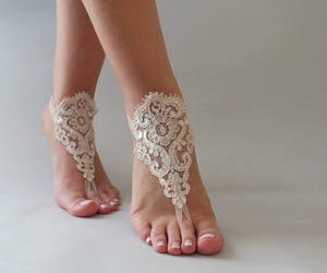 etsy, lace sandals, and bridesmaid sandals image
