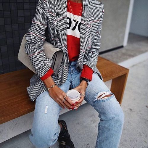 red, fashion, and girls image
