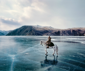 horse, lake, and russia image
