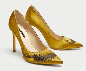 fashion, high heels, and yellow image