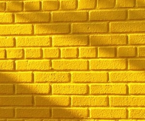 wallpaper, yellow, and brick image