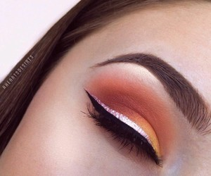 dramatic, orange, and eye image