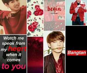 aesthetics, red, and bts image