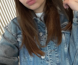 brunette, indie, and jacket image