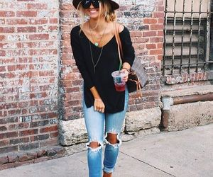 hat, stylish, and stylish outfit image