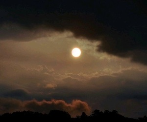 dark, moon, and sky image