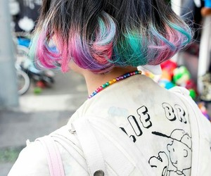 hair, colorful, and color image