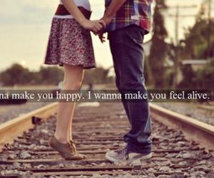 couple, happy, and Lyrics image