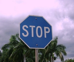 stop, blue, and aesthetic image