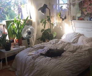 room, plants, and bedroom image