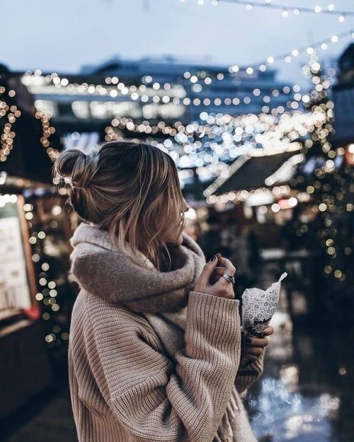 light, girl, and winter image