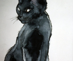 art, cats, and kitty image