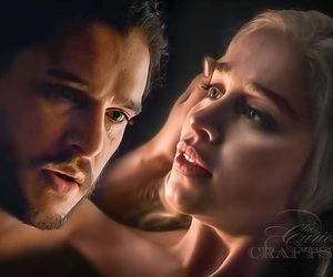 got, daenerys, and jon snow image