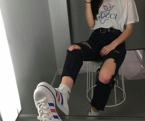 adidas, fashion, and gucci image