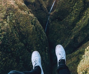 adventure, waterfall, and jeans image
