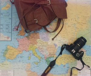 backpack, camera, and europe image