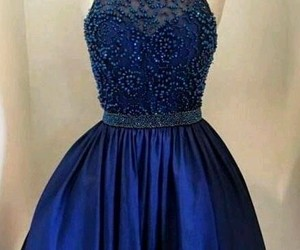 blue, dress, and prom dress image
