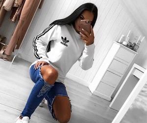 adidas, girl, and iphone image